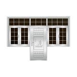 豪华不锈钢门 -JT-8986(连窗门)