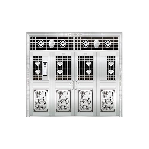 豪华不锈钢门-JT-8966(楼宇门)