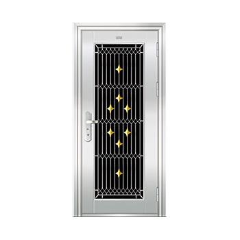 豪华不锈钢门-JT-9012(四类花)