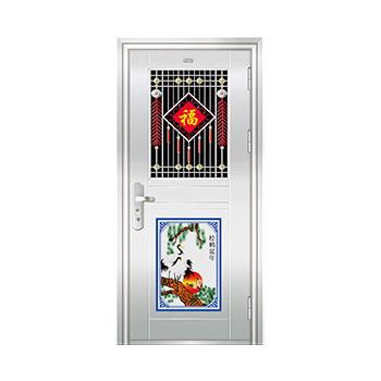 豪华不锈钢门-JT-8990(六类花)