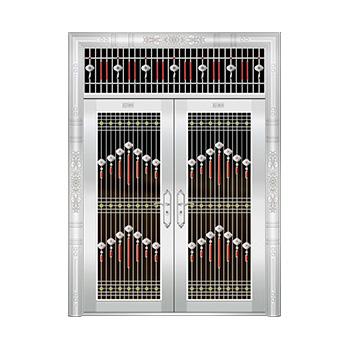 豪华不锈钢门-JT-8940(六类花)