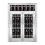 豪华不锈钢门 -JT-8925(六类花)