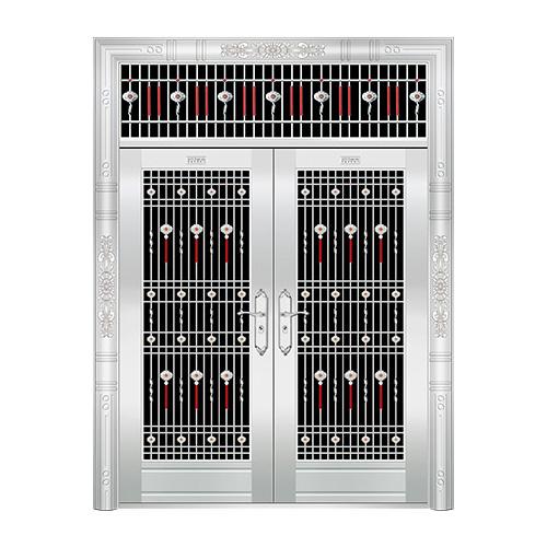 豪华不锈钢门-JT-8925(六类花)