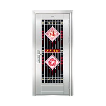 豪华不锈钢门-JT-8997(六类花)
