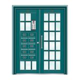 不锈钢楼寓门系列 -JT-3161(湖蓝)