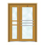 不锈钢楼寓门系列 -JT-3166(金黄色)