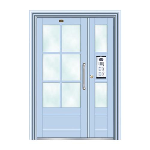 不锈钢楼寓门系列-JT-3162(浅蓝)