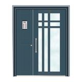 不锈钢楼寓门系列 -JT-3163(干涉蓝)
