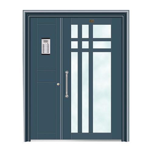 不锈钢楼寓门系列-JT-3163(干涉蓝)
