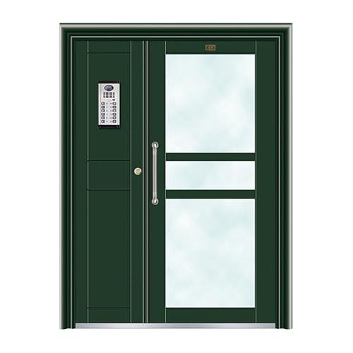 不锈钢楼寓门系列-JT-3165(墨绿)