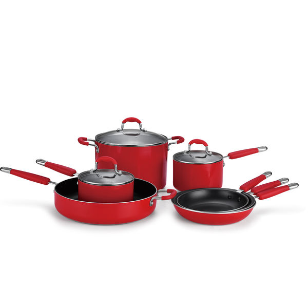 Classical Chinese Red Pressed Cookware Set JX-PST-11