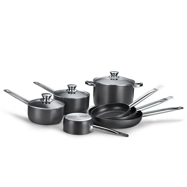 Hard Anodized Pressed Aluminum Cookware Set JX-PST-01