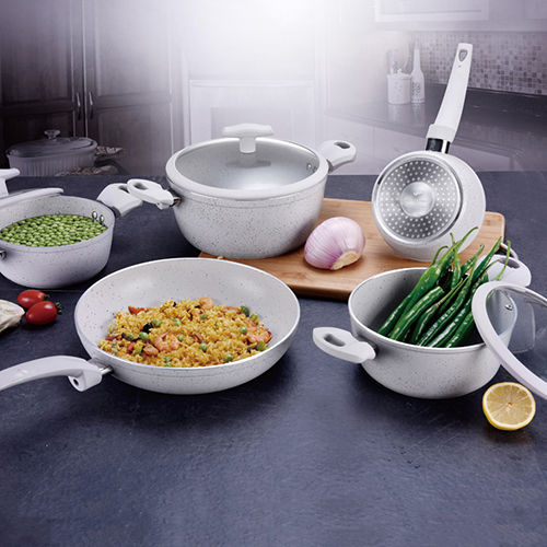 Non-Stick Marble Forged Aluminum Cookware Set JX-FST-05