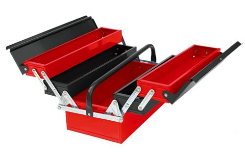 三层五格手提式工具箱-JS-09B