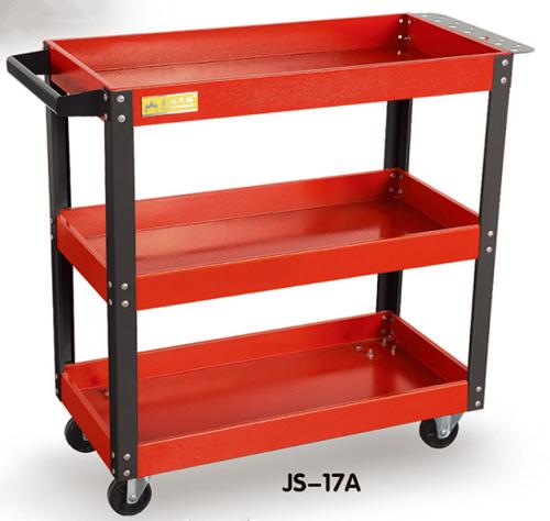 带插板三层零件车-JS-17A