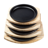 竹节烤盘 配 松木板 -yZJ_-SM