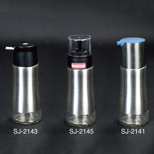 304不锈钢玻璃油壶-SJ-2141/SJ-2143/SJ-2145