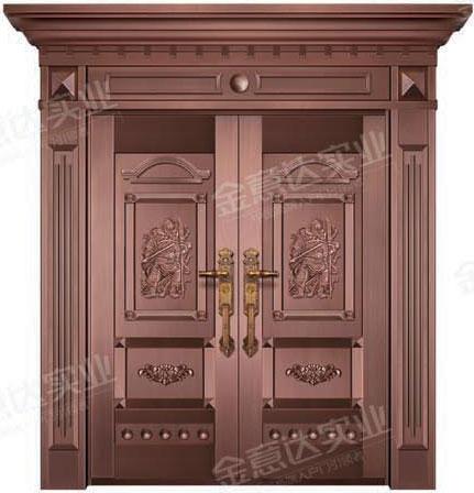 精雕銅門-JYD-T-830千秋萬代