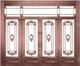 精雕铜门-JYD-T-889金福满园
