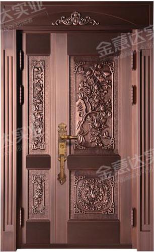 精雕銅門-JYD-T-856百花爭艷
