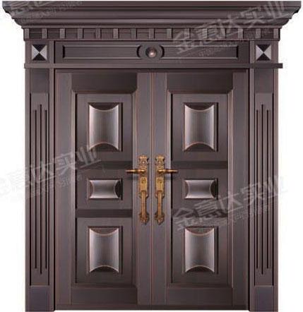 精雕铜门-JYD-T-833顶天立地