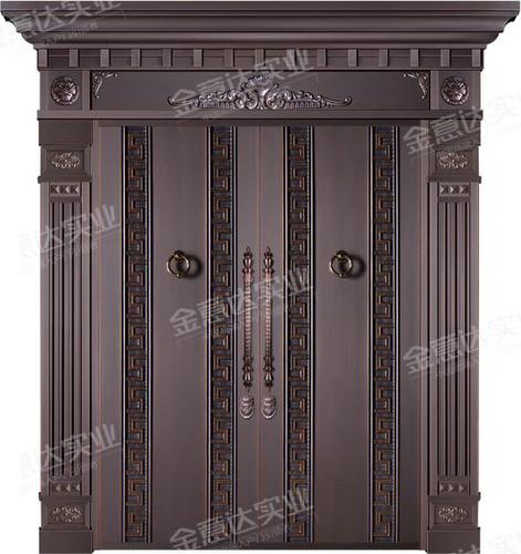 精雕铜门-JYD-T-805浩然正气