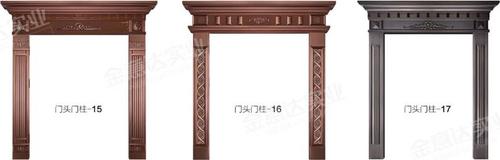 铜门门头门柱-铜门门头门柱-01