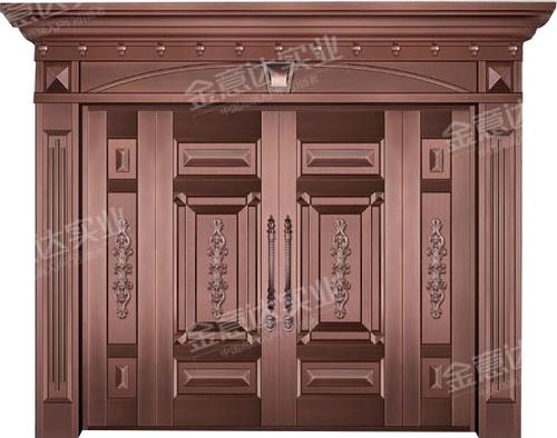 精雕铜门-JYD-T-826前程似锦
