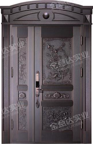 精雕铜门-JYD-T-810花开宝贵