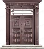 精雕銅門 -JYD-T-821百業興旺