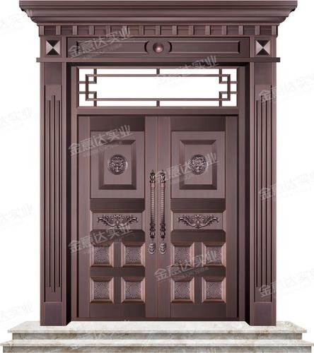 精雕铜门-JYD-T-821百业兴旺