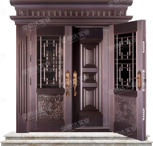 精雕铜门-JYD-T-867五福临门