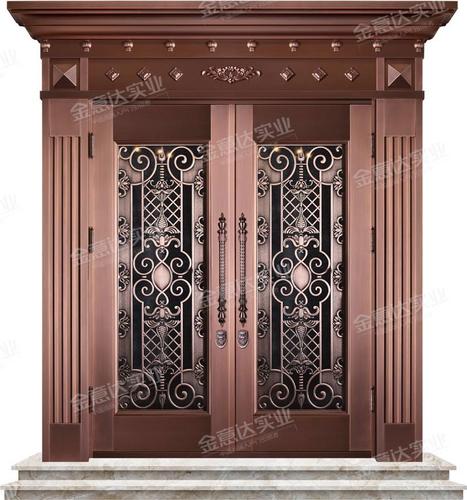 精雕铜门-JYD-T-868锦绣双珑