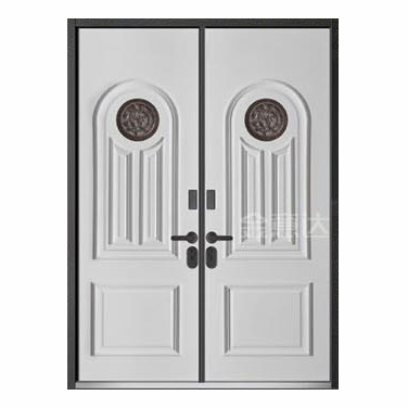 装甲铸铝门-实木背门01