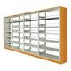 豪华木护板双面书架