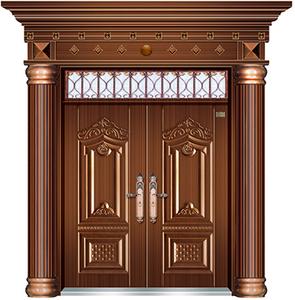 对开门(仿铜门
