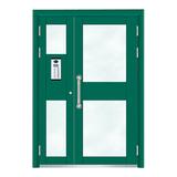 楼宇门 -6002A号框(星际绿氟碳漆门)