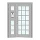 楼宇门-6004A号框(深银灰氟碳漆门)