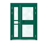 楼宇门 -6012A号框(星际绿氟碳漆门)
