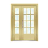 楼宇门 -6008A号框(金黄色氟碳漆门)