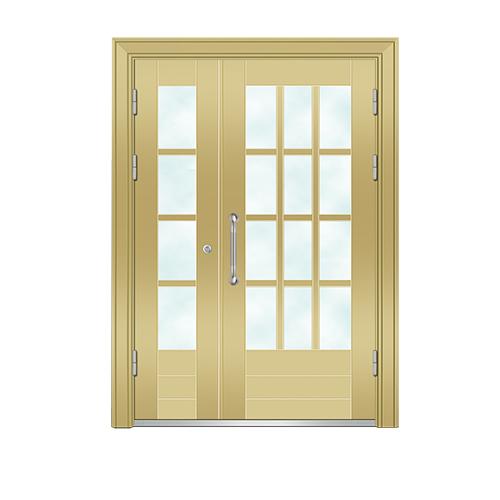 楼宇门-6008A号框(金黄色氟碳漆门)