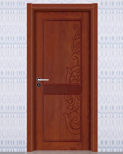 强化烤漆门-HM-6101(欧洲胡桃同步浮雕)