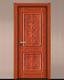 强化烤漆门-HM-6301(古巴原木 反凸)