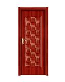 强化烤漆门 -HM-6509(红拼木)