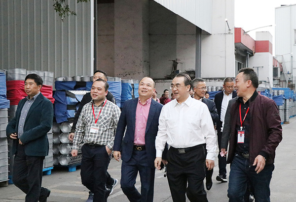 Leaders from various counties and cities in Lishui visited the Tian Xi group.