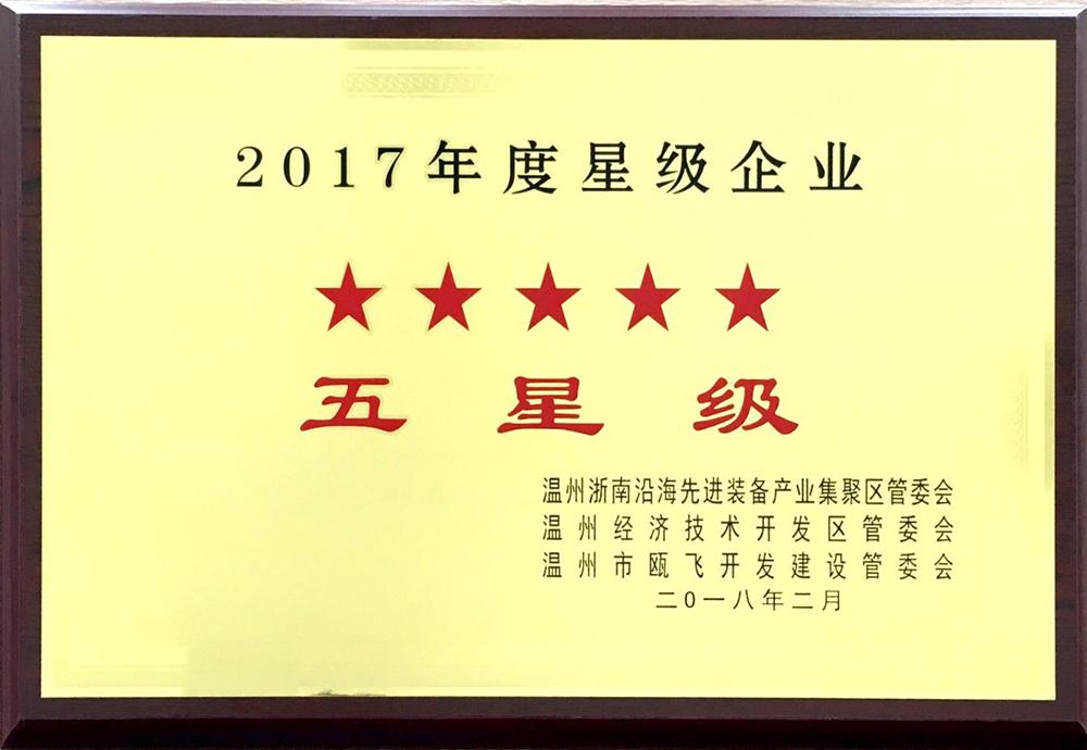 2017年度五星级企业