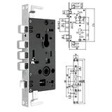 豪华锁体 -PY-ST608小方头锁