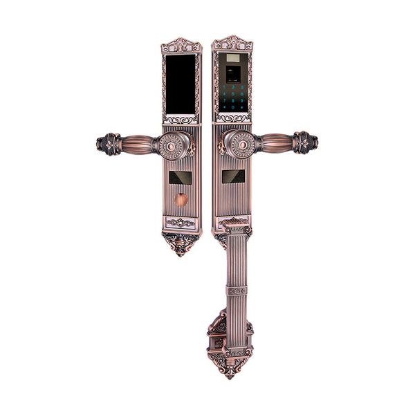 锌合金指纹密码锁系列 PY6002 红古铜/黄古铜