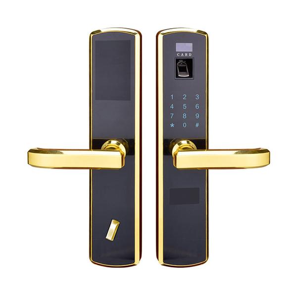 锌合金指纹密码锁系列 PY6006 金色/银灰色/红古铜