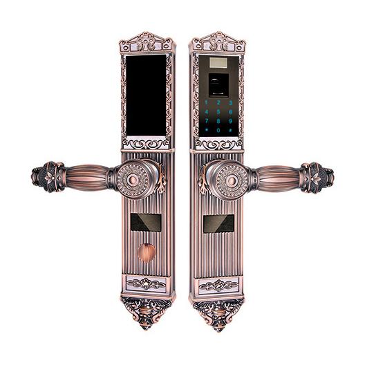 锌合金指纹密码锁系列 PY6002C 红古铜/黄古铜
